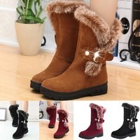 Winter Fur Ankle Boots