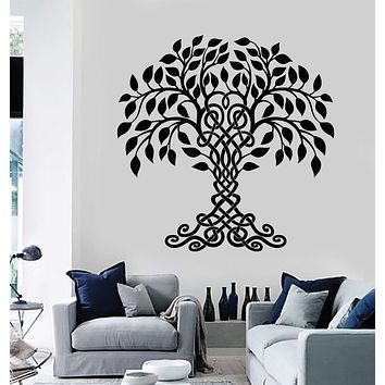 Vinyl Wall Decal Celtic Family Tree Of Life Nature Stickers Unique Gift (1772ig)