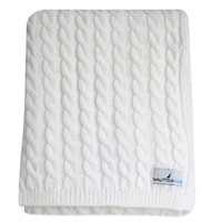 Nautica Kids® Mix & Match Cable Knit Blanket in White