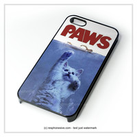 Paws Movie Parody Funny Cat Attack iPhone 4 4S 5 5S 5C 6 6 Plus , iPod 4 5 , Samsung Galaxy S3 S4 S5 Note 3 Note 4 , HTC One X M7 M8 Case