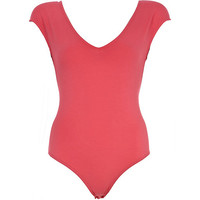 River Island Womens Pink V neck body