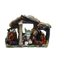 "18"" Traditional Religious LED Christmas Nativity with Stable House Decoration"