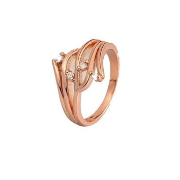 Genuine Crystal Rose gold Color Vintage Rings