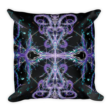 Crown Chakra Bliss and Harmonic Convergence - Combo - Square Pillow