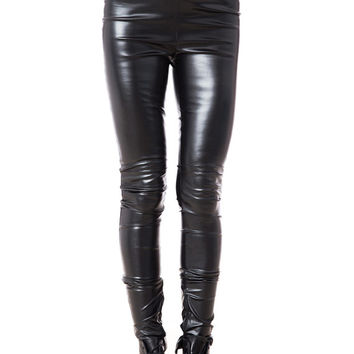 Womens Leggings, High Waisted Pants, Womens Black Pants, Black Leggings, Slim Pants, Leather Pants, Fetish Clothing, Leather Leggings