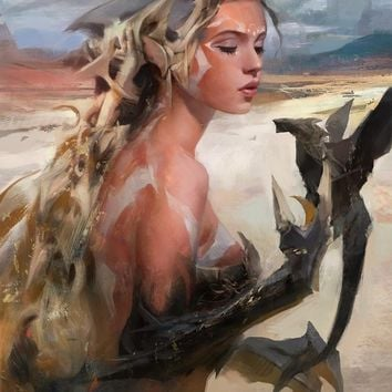 """Dragon Lady"" - Art Print by Ross Flynn"