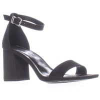 1.4.3. Girl Newsie Ankle Strap Block Heel Dress Sandals - Black