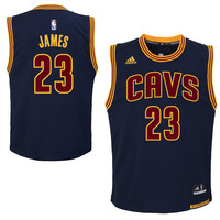 Youth Cleveland Cavaliers LeBron James adidas Navy Blue Replica Alternate Jersey