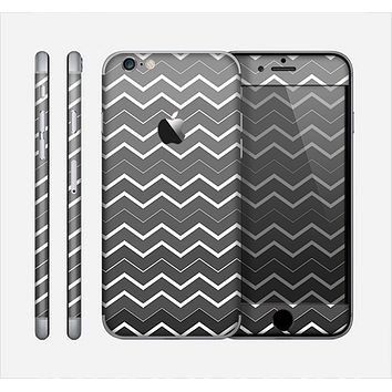 The Black Gradient Layered Chevron Skin for the Apple iPhone 6