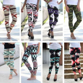 Print Elastic Leggings B0014368