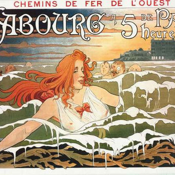 Cabourg Henri Privat-Livemont Poster 24x36