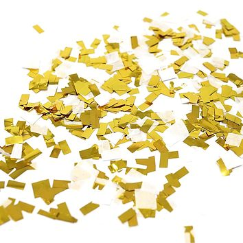 White Gold Foil Shredded Confetti Paper Glitter Party Decoration