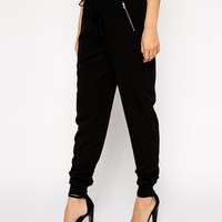 New Look Tall Baseball Trim Joggers at asos.com