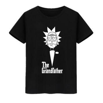 Vsenfo Rick And Morty Geek T Shirt Men Women TV Tee Anime Funny T-Shirt The Grandfather T Shirts Cotton O Neck Tops Tee