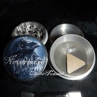 Nevermore Crow Edgar Allan Poe 4 Piece Herb Grinder Pollen Screen Catc