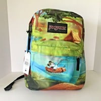 NEW JanSport Unisex Disney High Stakes Forest Camp Backpack / School Bag