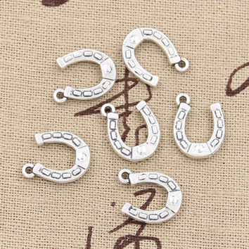 99Cents 12pcs Charms lucky horseshoe horse 15*12mm Antique Making pendant fit,Vintage Tibetan Silver,DIY bracelet necklace