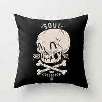 Soul Collector Throw Pillow by Clogtwo