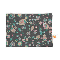 "Nika Martinez ""Cute Winter Floral"" Gray Pastel Everything Bag"