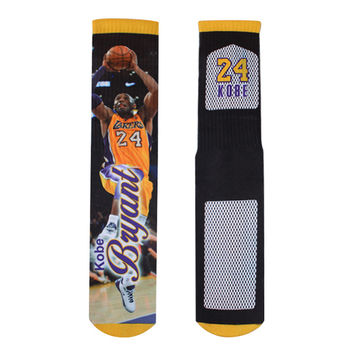 Kobe Bryant Los Angeles Lakers All Over Print Custom Printed High Long Cotton Socks