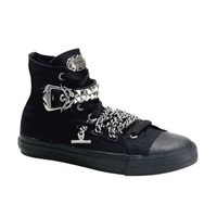 Black Canvas High Top Sneakers MENS SIZING Gothic Shoes