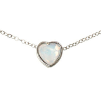 LOVEsick Synthetic Opal Heart Necklace
