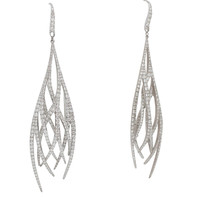 Burdeen's Red Carpet Diamond Gold Entwined Feather Earrings