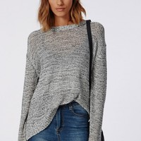Missguided - Zenobia Zip Back Dip Hem Jumper