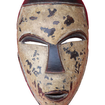 Lega African Mask, Tribal Lega Mask from Central Africa