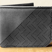 wallet, leather wallet, mens leather wallet, weave wallet, graphic design