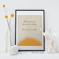 Breeze at Dawn - Rumi Quote Art Print - Digital Download Available!