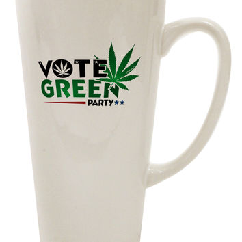 Vote Green Party - Marijuana 16 Ounce Conical Latte Coffee Mug