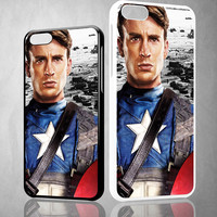 chris evans captain america X0130 iPhone 4S 5S 5C 6 6Plus, iPod 4 5, LG G2 G3, Sony Z2 Case