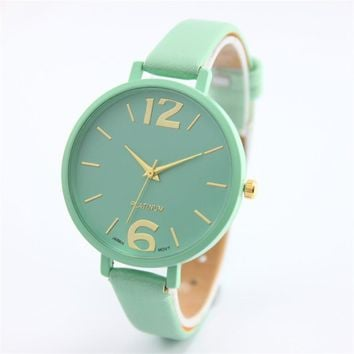 Fashion Women Bracelet Watch Famous brand Ladies Faux Leather Analog Quartz Wrist Watch Clock Women relojes mujer hot selling M