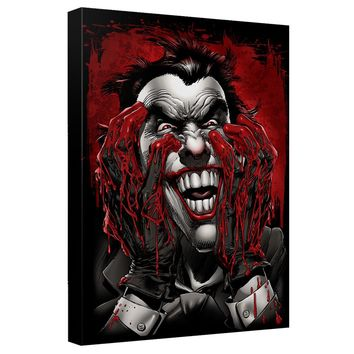 Batman - Blood On Hands Canvas Wall Art With Back Board