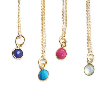 Colored Dot Necklace