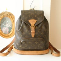 Louis Vuitton Montsouris Monogram France MM Backpack Vintage Authentic Handbag
