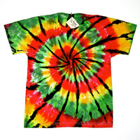 Tie Dye Shirt/ Child Size Made to Order/ Rasta Spiral