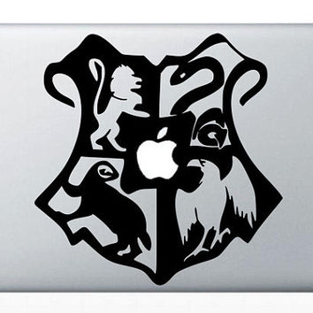 Hogwarts Crest MacBook Decals mac decals macbook pro decal macbook air decal mac stickers apple decal ipad iphone skin stickers 3 4 5