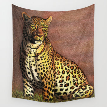 Panthère / Panther Wall Tapestry by Savousepate