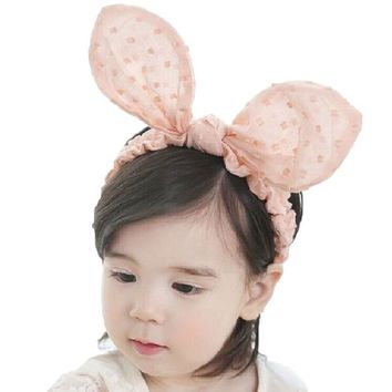 Baby girls Rabbit Ears Elastic Headband Infant Halloween Birthday Toddler Headwear Hair band Accessories Easter Photo Prop 1pc