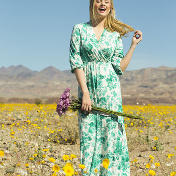 Daylily Jersey Maxi Dress Green