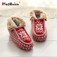 shearling ladies flat plush indoor home warm flock furry slippers women adult fluffy red fenty shoes rihanna house slipper