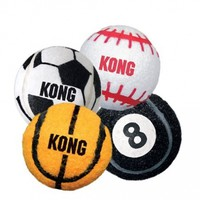 KONG 3-Pack Sport Balls Dog Toy, Small, Assorted