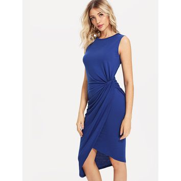 Draped Side Wrap Dress