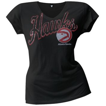 Atlanta Hawks - Logo Juniors V-Neck T-Shirt