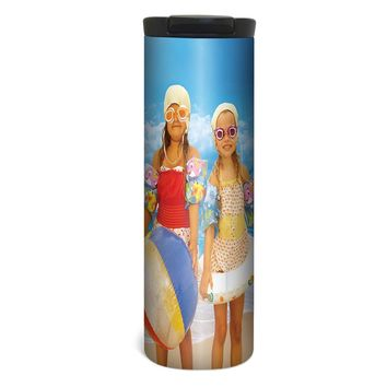 Beach Day Barista Tumbler Travel Mug - 17 Ounce, Spill Resistant, Stainless Steel & Vacuum Insulated