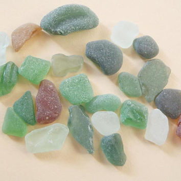 24 mixed sea glass italian green amber milky beach mermaid tears mediterranean decor craft supplies jewelry mosaic tiles lasoffittadiste
