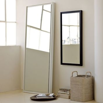 Floating Wood Floor Mirror