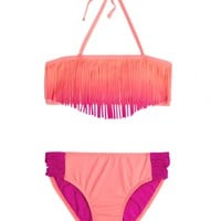 OMBRE FRINGE BIKINI SWIMSUIT | GIRLS SWIMSUITS SWIM | SHOP JUSTICE